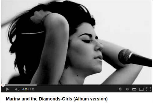 Marina and the Diamonds Girls